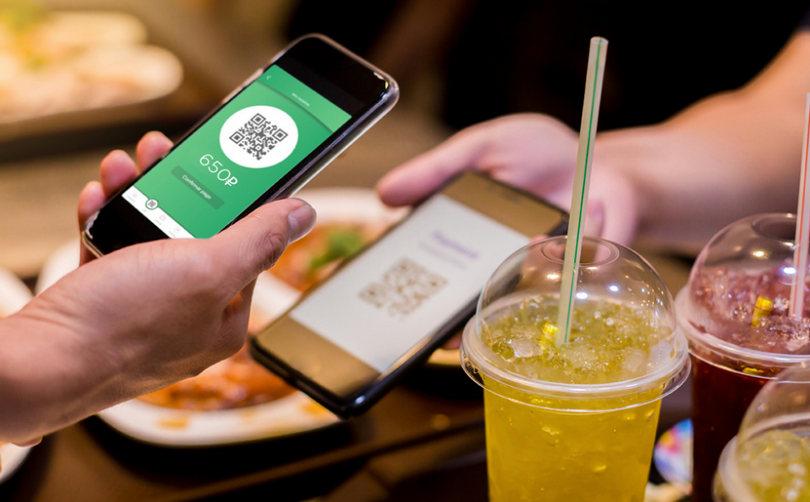 Оплата мобильными приложением по QR коду
